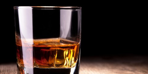 Glass with whiskey - The most manly drink