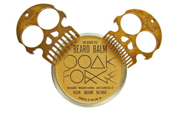 OOAK Forge Bronze Beard Comb