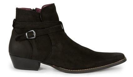 Topman black suede boots