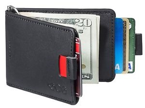 Best Mens Wallet- Agog Mens Ultra Slim Bifold Leather Wallet Pull Tab with Money Clip