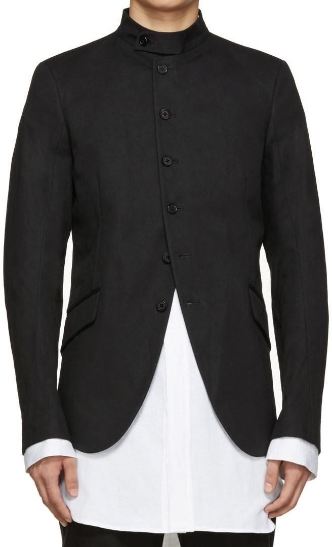 Black Band Collar Blazer- Ann Demeulemeester
