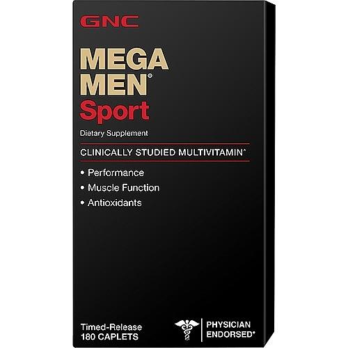 GNC Mega Men Sport 180 Caplets