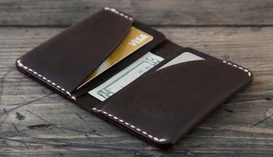 Gram 28 Black Leather Day Wallet