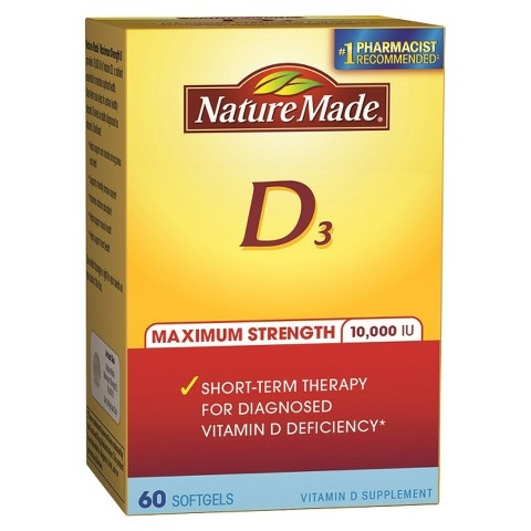 Nature Made Maximum Strength Vitamin D 10,000 I.U