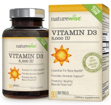 NatureWise Vitamin D3 5,000 IU in Organic Olive Oil