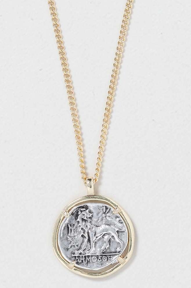 Organic Coin Necklace