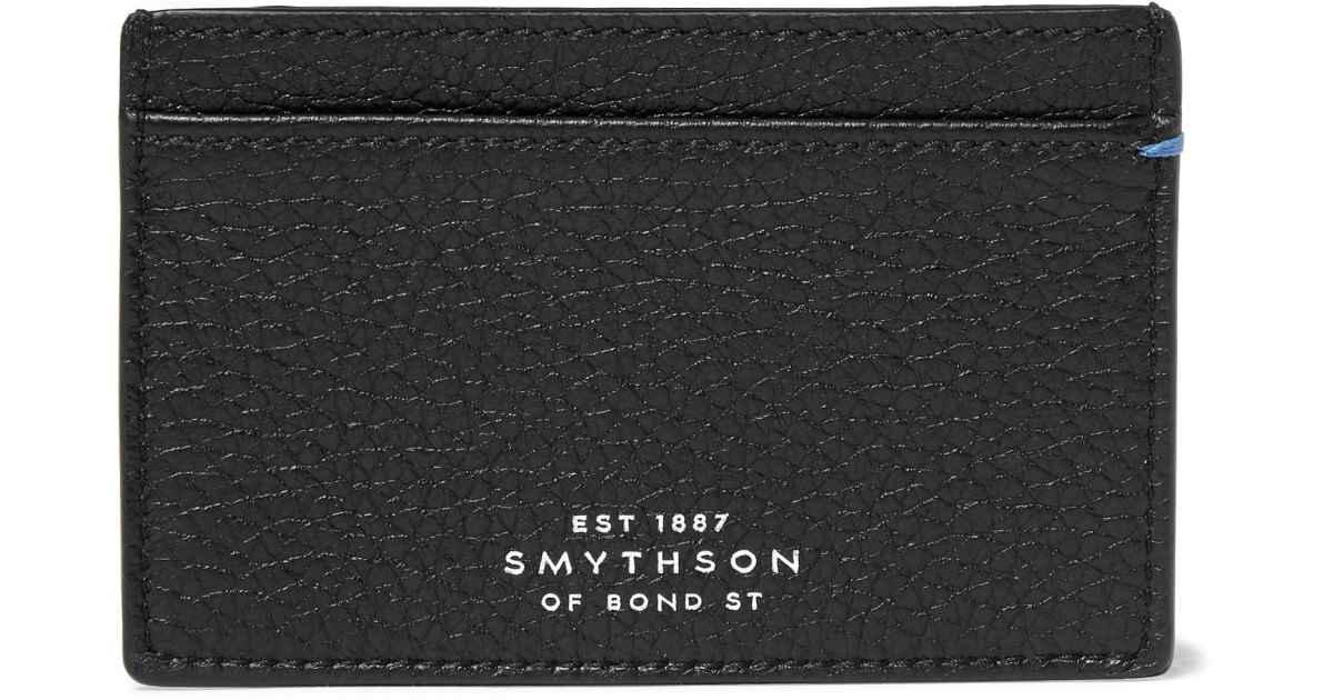 Smythson- Burlington Textured-Leather Cardholder