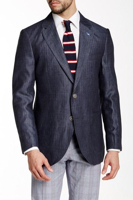 TailorByrd (Blue Herringbone Linen Jacket)