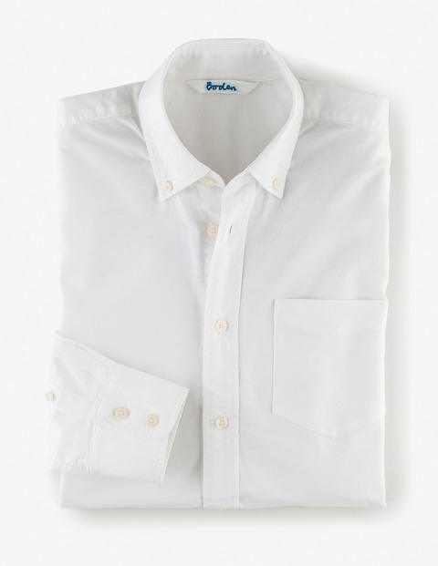 Washed Oxford Shirt-White