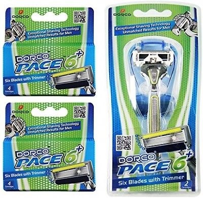 Dorco Pace 6 Plus-Six Blade Razor System with Trimmer.500
