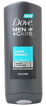 Dove Men+Care Body Wash, Aqua Impact