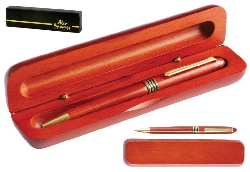 Genuine Rosewood Ballpoint Pen in Wood Gift Box