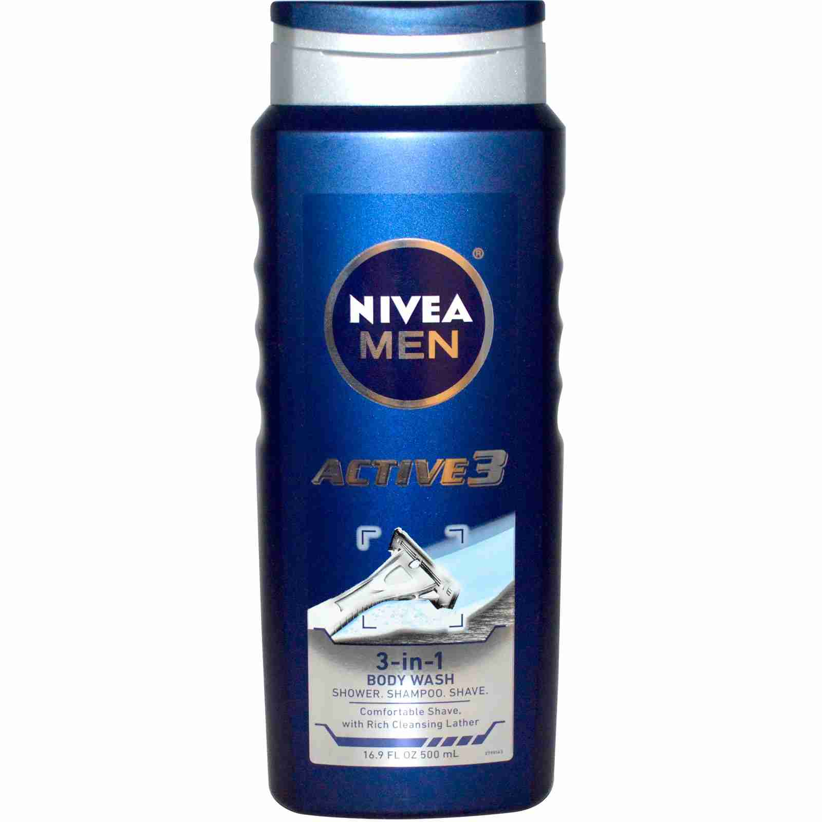 Nivea For Men Body Wash, Active 3
