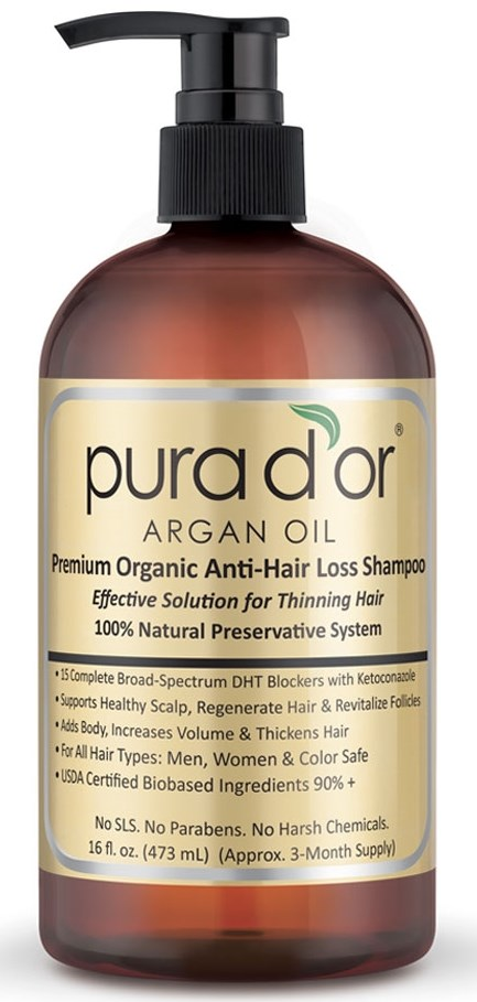 PURA D'OR Anti-Hair Loss Premium Organic Oil Shampoo