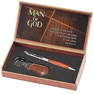 Pen and Keyring Set Man of God Jeremiah