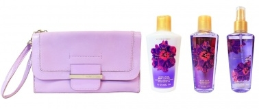 Victoria's Secret Love Spell Gift Set with Lilac Clutch