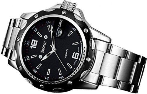PALADA Men's 7147BG Waterproof Quartz Wrist Watch with Stainless Steel Vand and Calendar