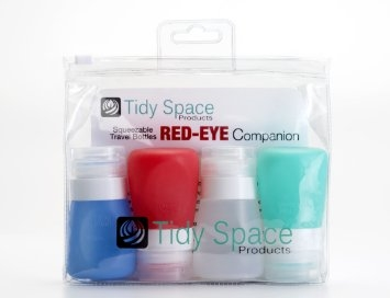 Tidy Space Products Travel Size Bottles Four 2 oz